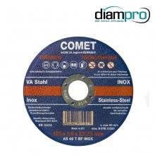 Disque � tron鏾nner acier/inox plat Comet �5x1,6x22,2mm. Cr閐its : @diampro